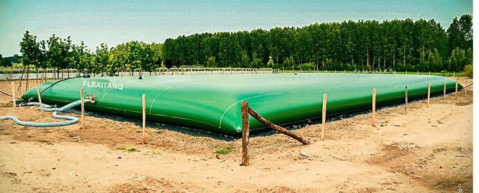 Depósito para agua de riego de 2000 m3
